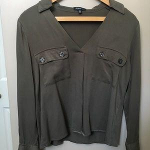 Dynamite olive blouse